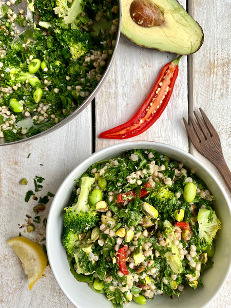 Activated Buckwheat and Activated Pistachio Salad