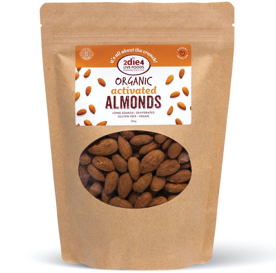 Activated Organic Almonds - 2die4livefoods