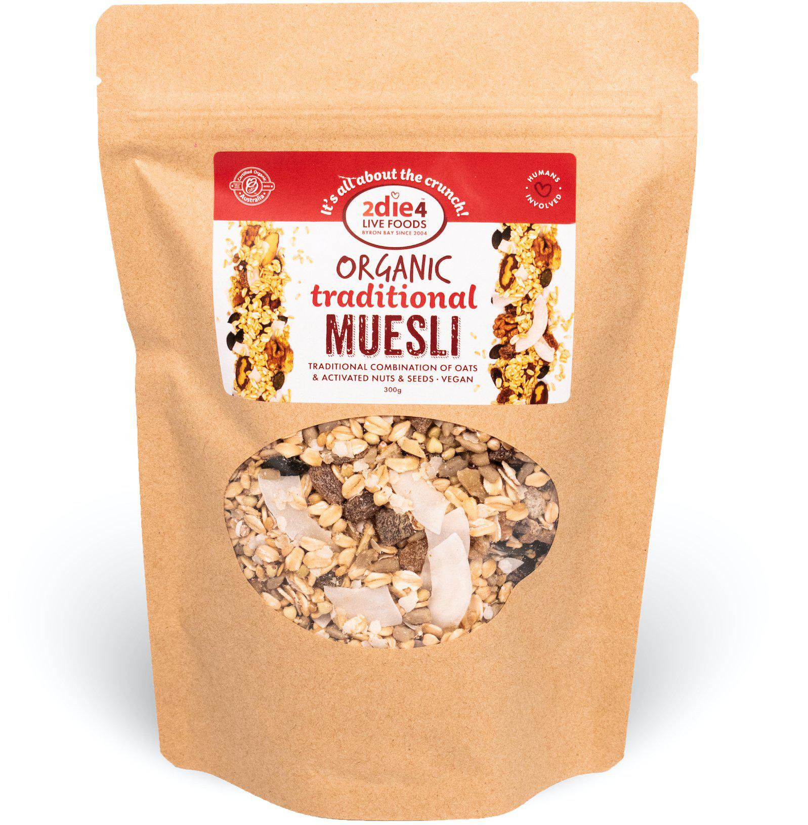 Organic Traditional Muesli - 2die4livefoods