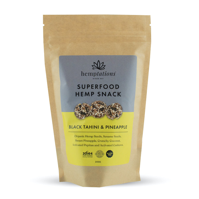 Activated Organic Hemptations Black Tahini and Pineapple - 2die4livefoods