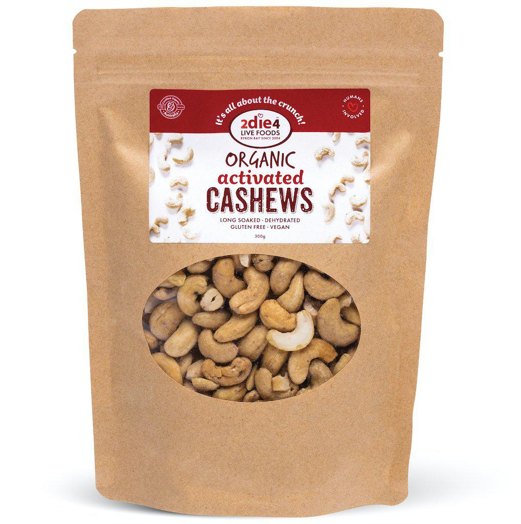 Activated Organic Cashews - 2die4livefoods
