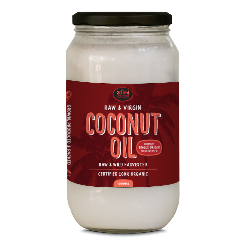 Organic Coconut Oil 1L - 2die4livefoods