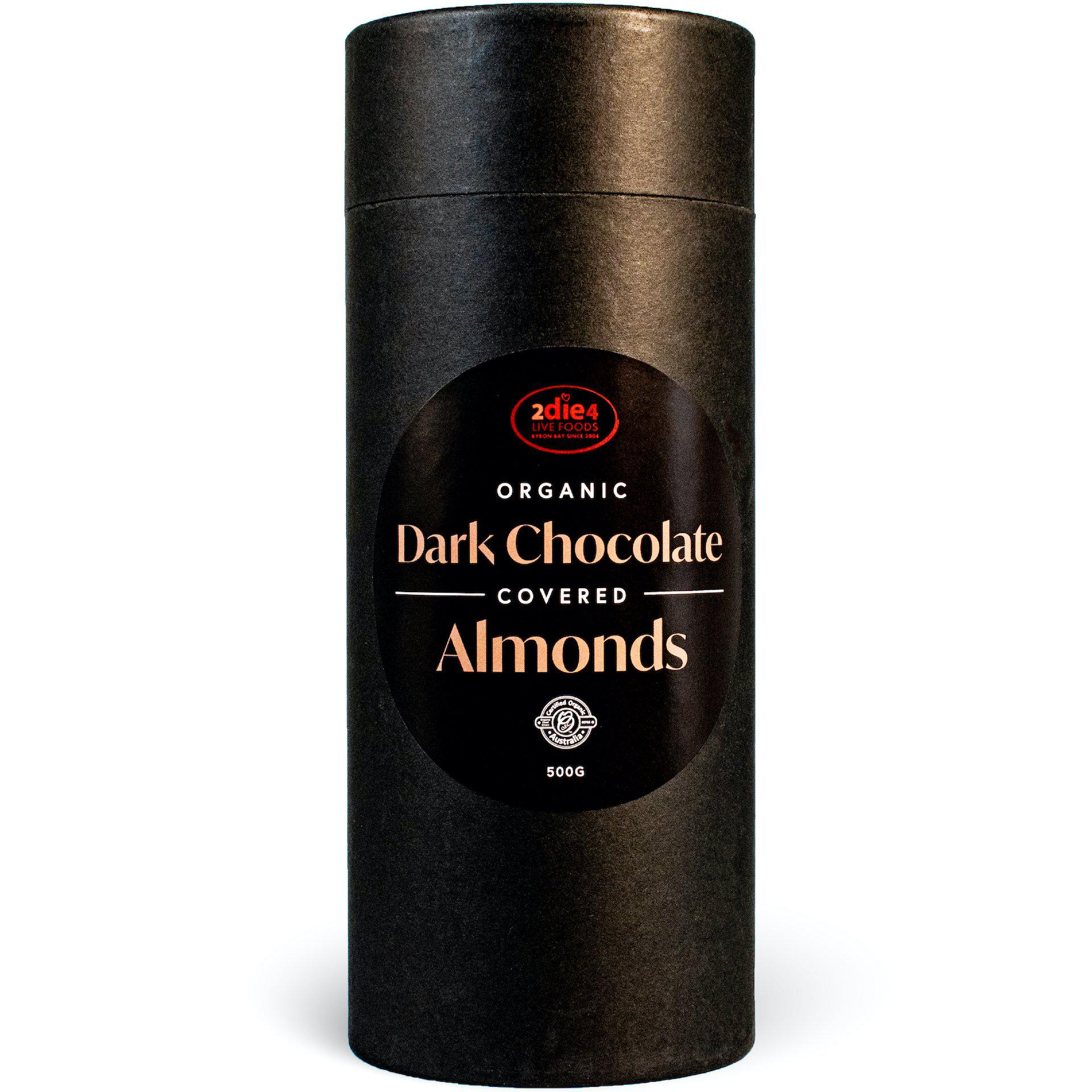 Organic Dark Chocolate Coated Almonds - 2die4livefoods