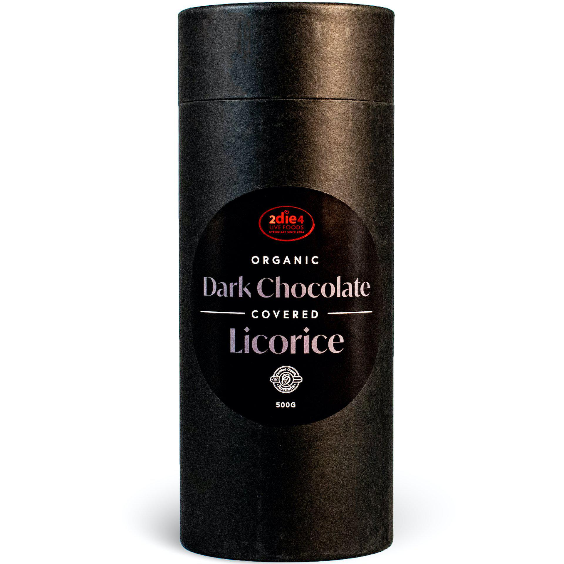 Organic Dark Chocolate Coated Licorice - 2die4livefoods