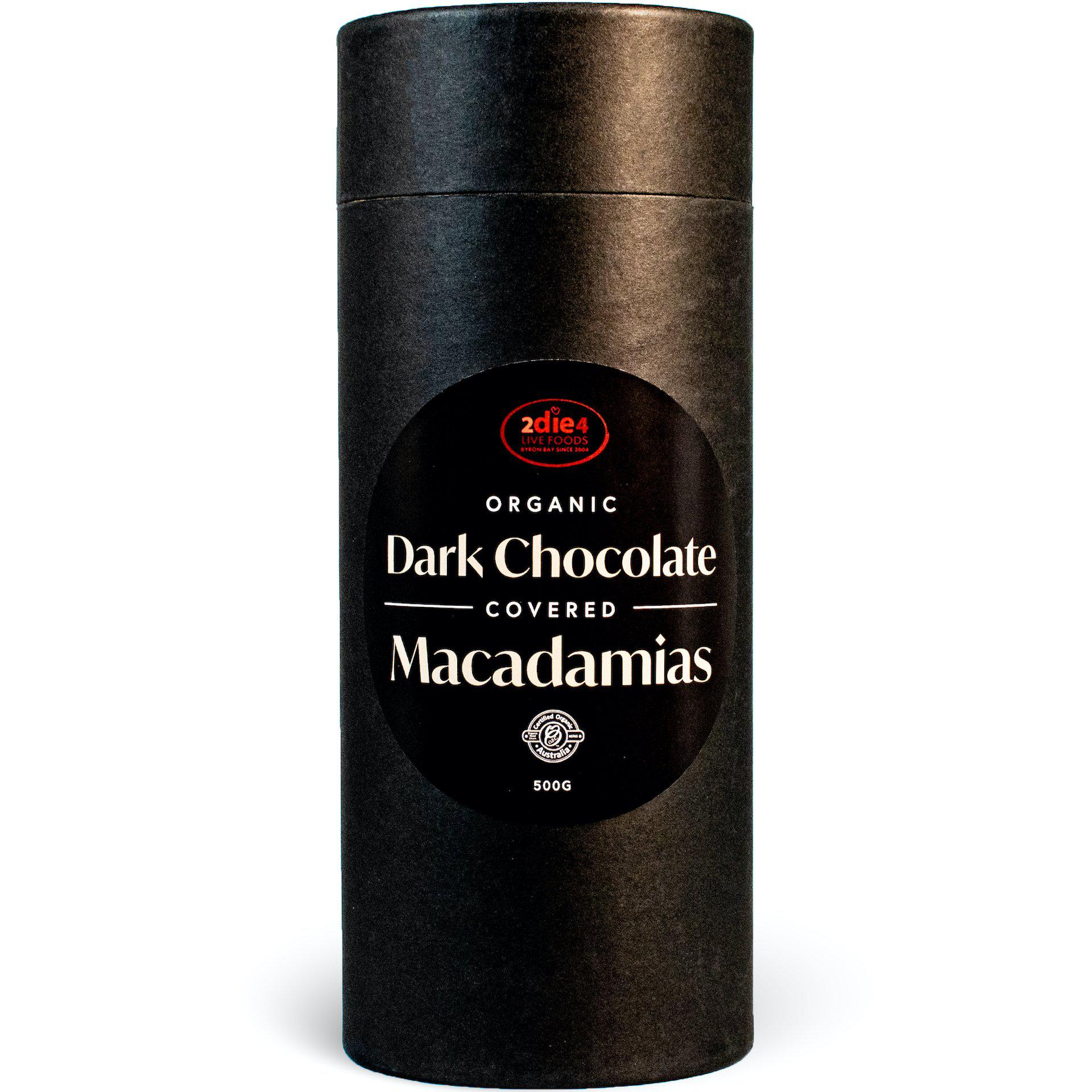 Organic Dark Chocolate Coated Macadamias - 2die4livefoods