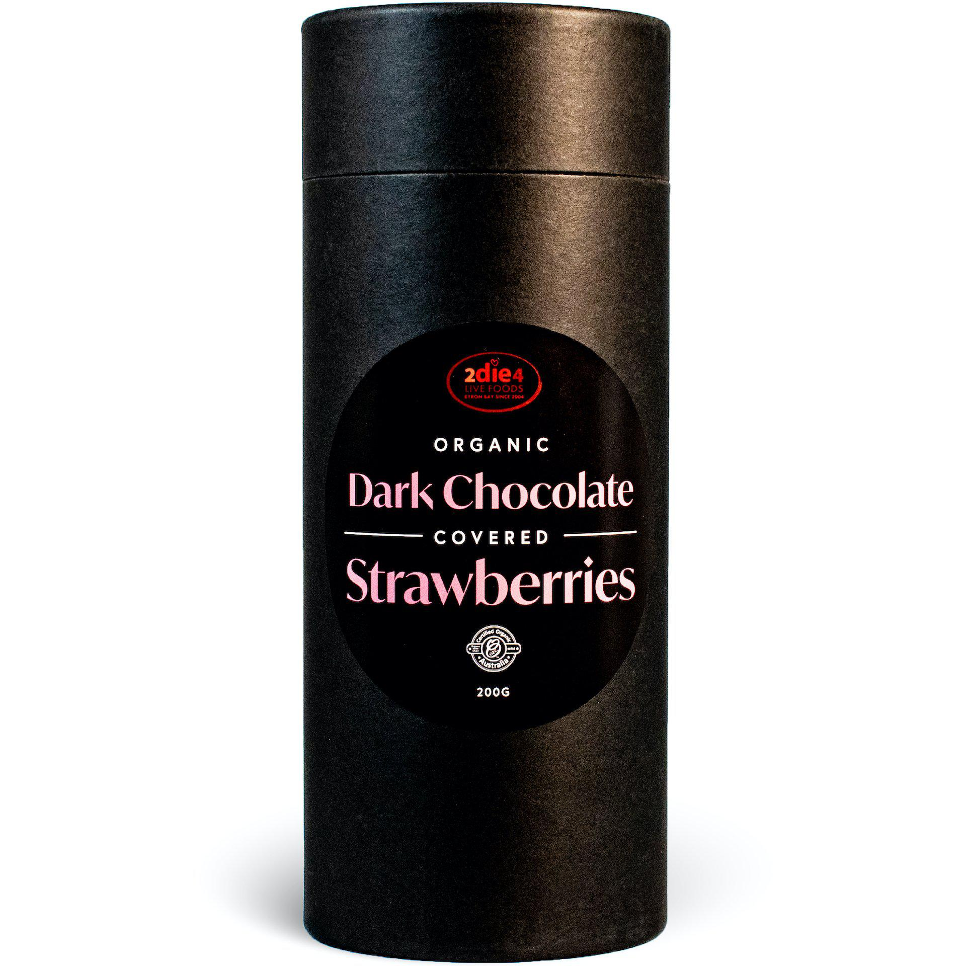 Organic Dark Chocolate Coated Strawberries - 2die4livefoods