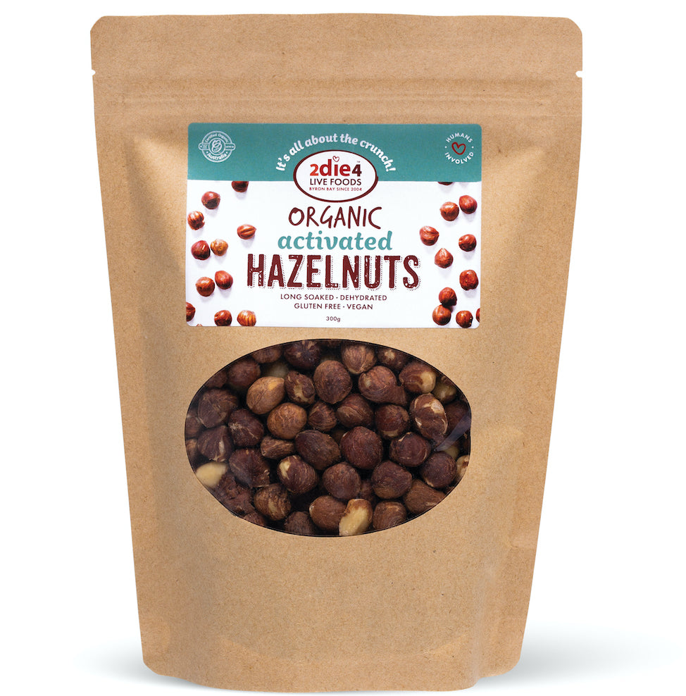 Activated Organic Hazelnuts - 2die4livefoods