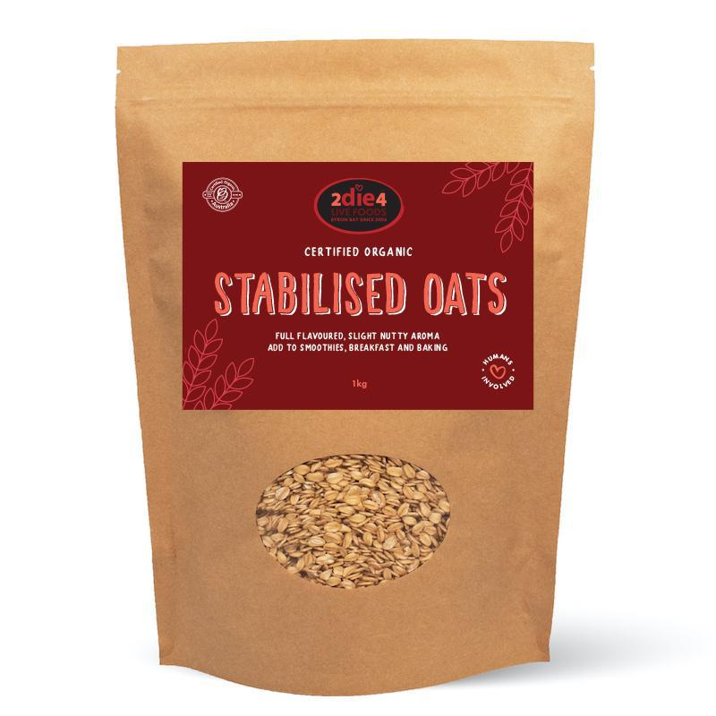 Organic Stabilised Australian Oats - 2die4livefoods