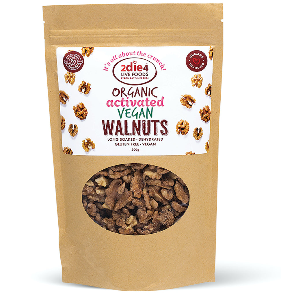 Activated Organic Vegan Walnuts - 2die4livefoods