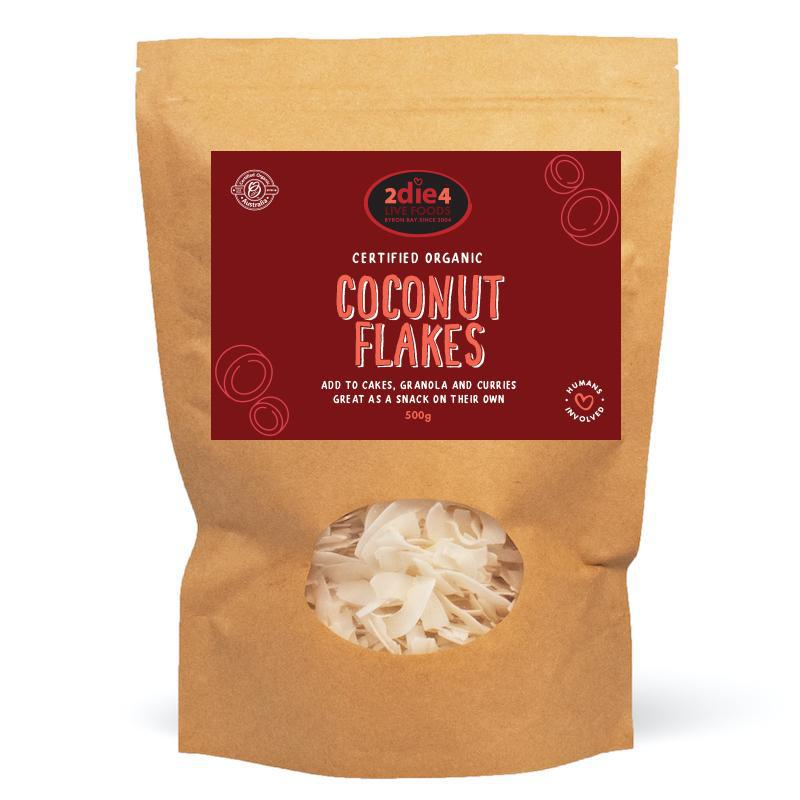 Organic Coconut Flakes - 2die4livefoods - Shop Online Byron Bay