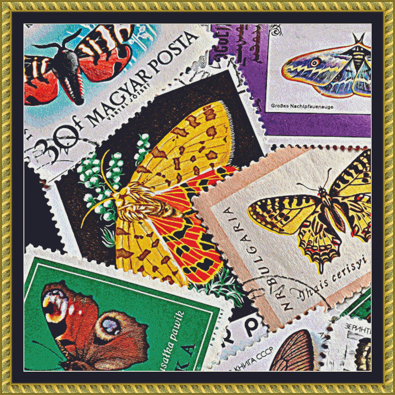 Butterfly Stamps (CROP 2) PDF PATTERN