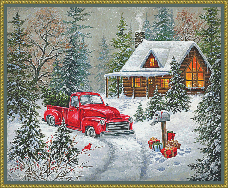 Christmas Tree Cabin PDF PATTERN