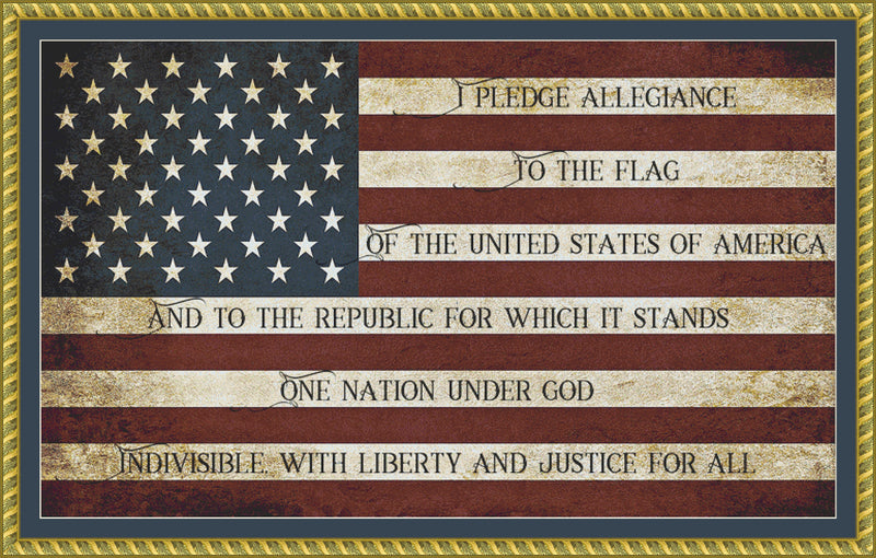 Pledge of Allegiance (Block Font)