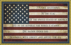 Pledge of Allegiance (BLOCK FONT) PDF PATTERN