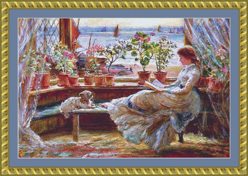 Reading by the Window (CROP) PDF PATTERN