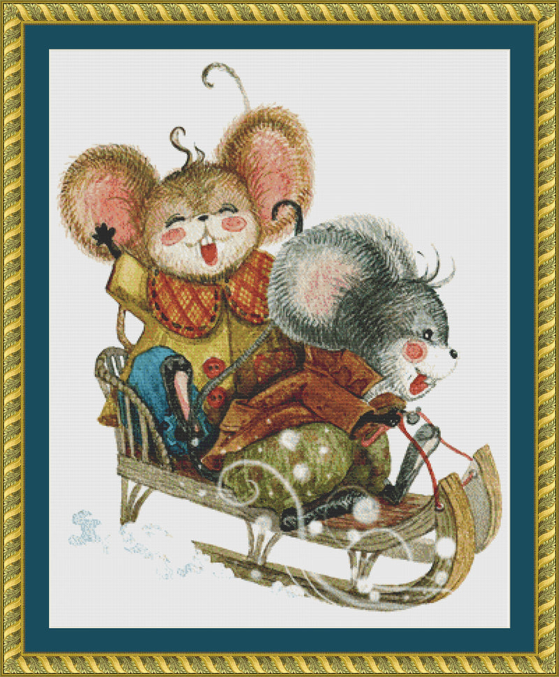 Sledding Mice PDF PATTERN