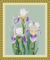 Trio of Irises PDF PATTERN