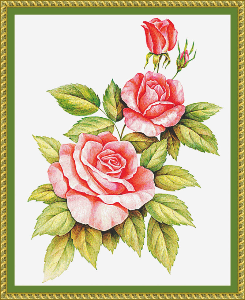 Trio of Roses PDF PATTERN