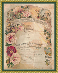 Victorian Marriage Certificate BLANK
