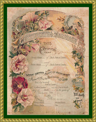 Victorian Marriage Certificate PERSONALIZED