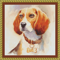 Watercolor Beagle PDF PATTERN