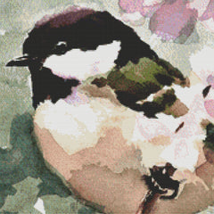 Watercolor Chickadee