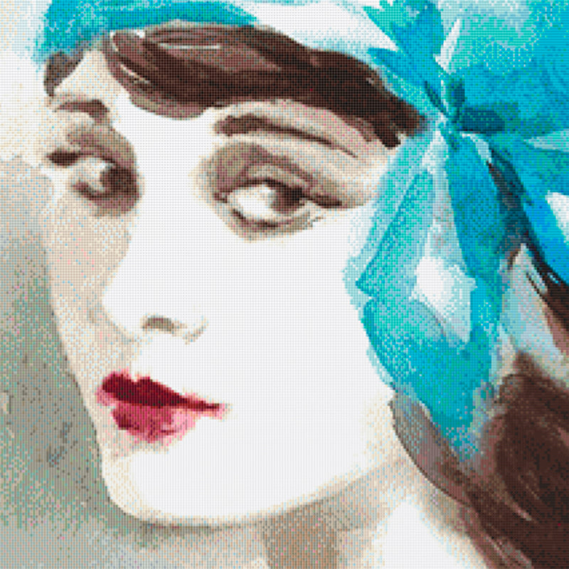 Watercolor Flapper (Blue) PDF PATTERN