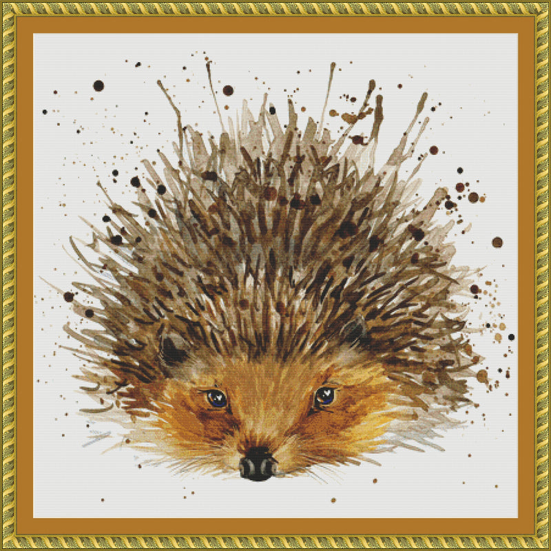 Watercolor Hedgehog PDF PATTERN