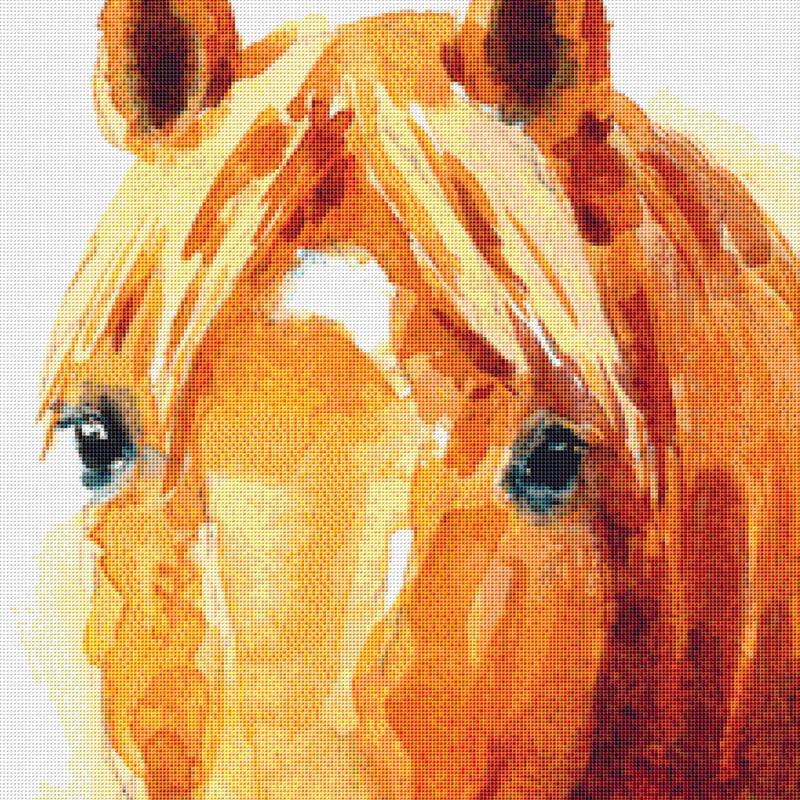 Watercolor Horse PDF PATTERN