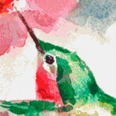 Watercolor Hummingbirds PDF PATTERN