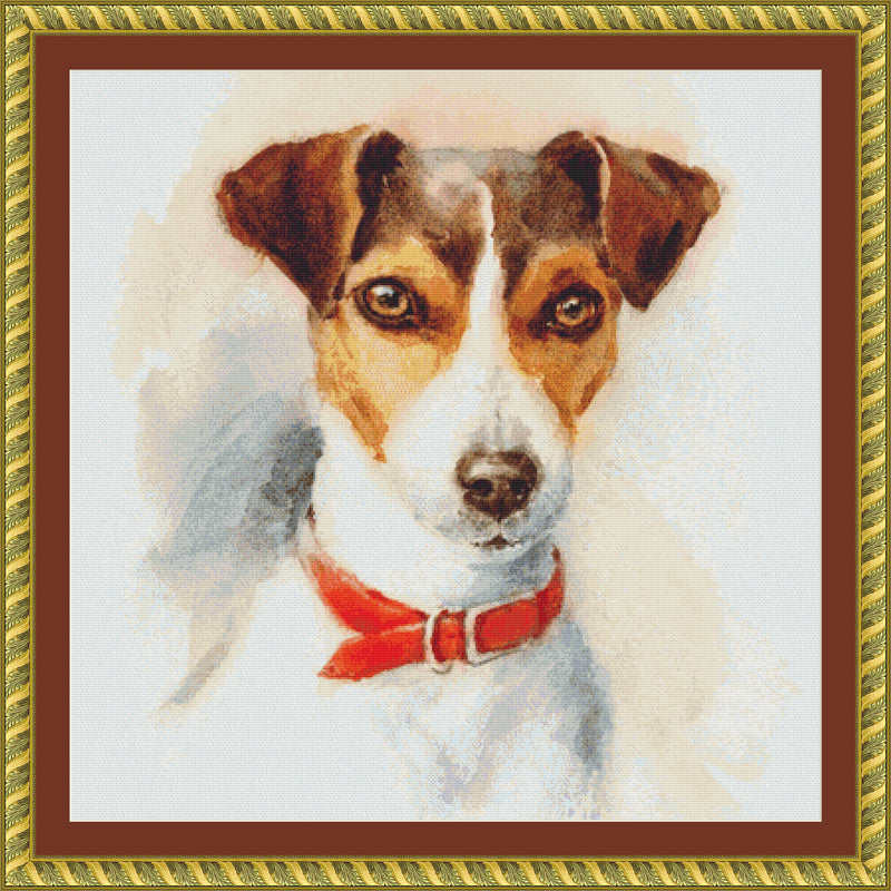 Watercolor Jack Russell Terrier
