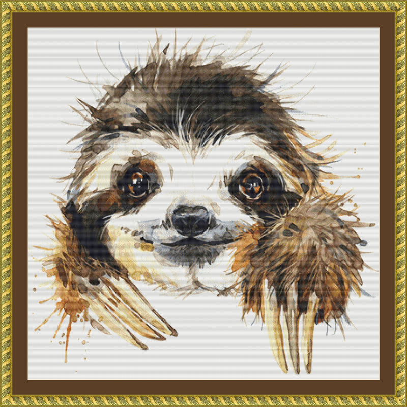 Watercolor Sloth