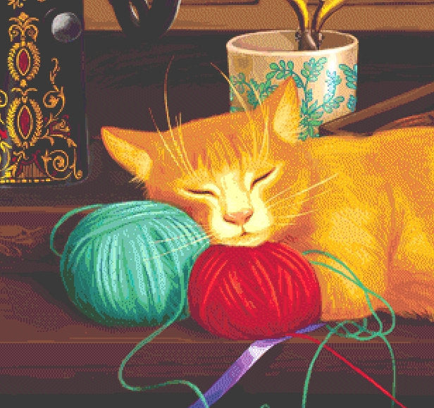 Sewing Room Cat (CROP)