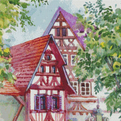 Watercolor Tudor Cottages