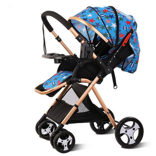Baby Stroller Two-way Portable Travel System High-view Push Chair Infant Carriage