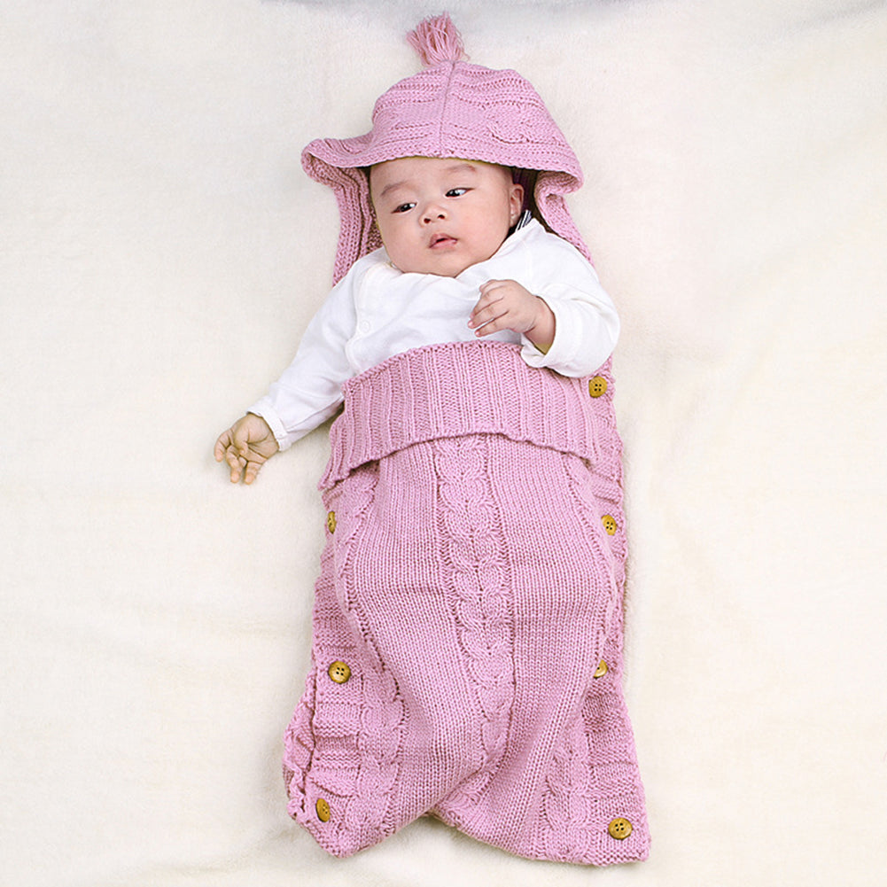 Baby Sleeping Knit Blanket