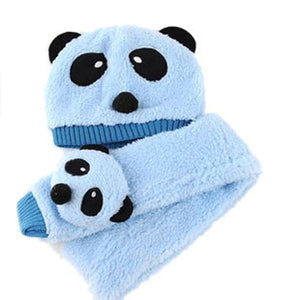 Autumn Winter Panda Warm Hat &Scarf Set