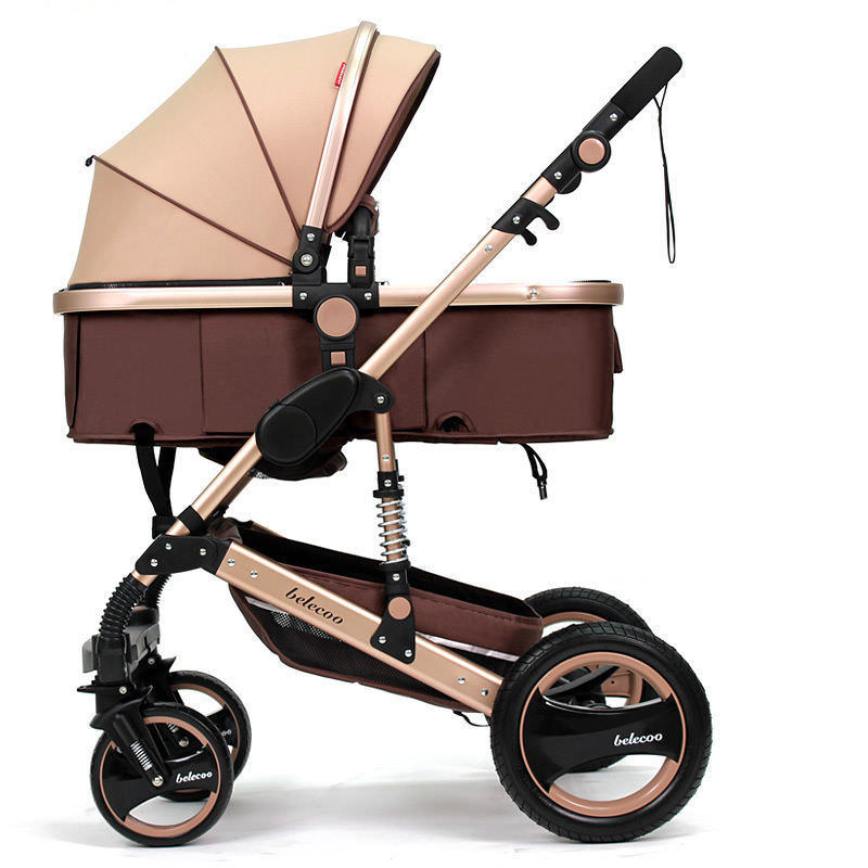 Baby Carriage Stroller Buggy Foldable Stroller Pram Bassinet Belecoo