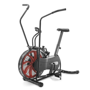 Exercise Bike Black Red Air Resistance Cardio Machine - Marcy Fan Bike | NS-1000