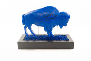 Josh Allen Autographed Blue Buffalo On Buffalo Turf Company Base