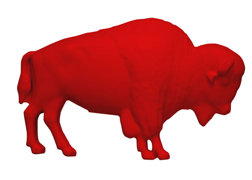 The Original Red Buffalo Lawn Ornament