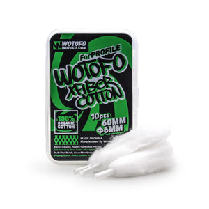 WOTOFO AGLETED 6MM ORGANIC XFIBER COTTON