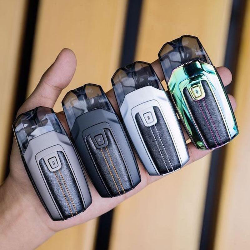 A person hand having 4 different colours AEGIS POD KIT