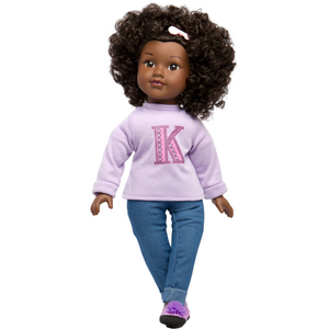 Natural Curly Hair Black Doll KENNEDY - Positively Perfect™ 18""