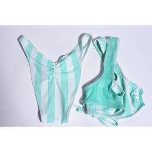 The Surya Brianne Top (Mint stripe) - Essence Marché