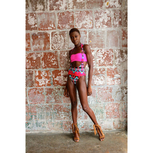 The Makenzie 1pc (Fuschia print)