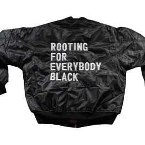 Rooting for Everybody Black Bomber Jacket