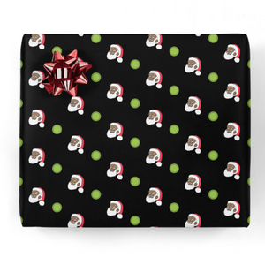Clarence Claus Dots Gift Wrap
