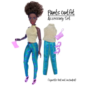 Glitter and Green Pants Fashion Pack