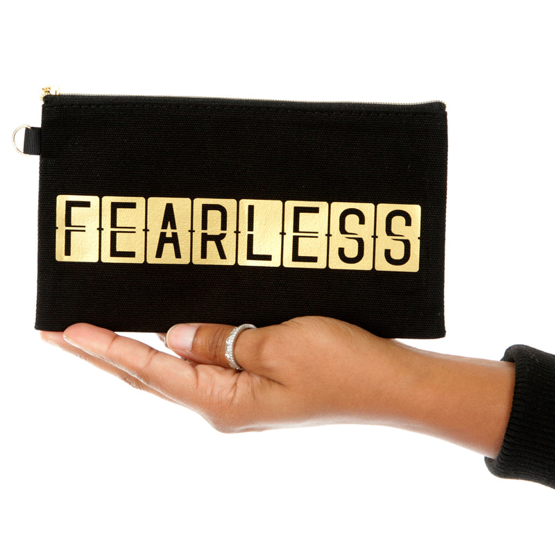 FEARLESS Black Makeup and Accessory Bag